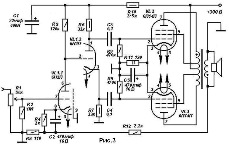 Схемы и фото ламповых усилителей